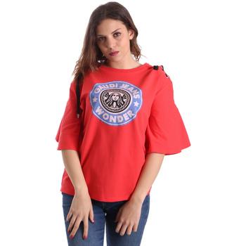 vaatteet Naiset Lyhythihainen t-paita Gaudi 911BD64037 Punainen
