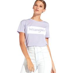 vaatteet Naiset Lyhythihainen t-paita Wrangler W7016D Violetti