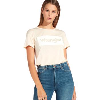 vaatteet Naiset Lyhythihainen t-paita Wrangler W7016D Oranssi