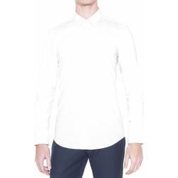 vaatteet Miehet Pitkähihainen paitapusero Antony Morato MMSL00375 FA450001 Valkoinen