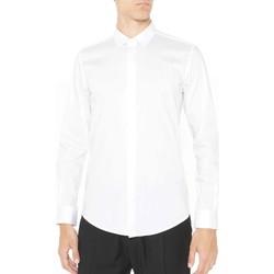 vaatteet Miehet Pitkähihainen paitapusero Antony Morato MMSL00293 FA450001 Valkoinen