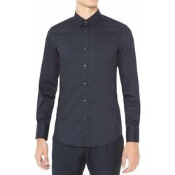 vaatteet Miehet Pitkähihainen paitapusero Antony Morato MMSL00375 FA450001 Sininen