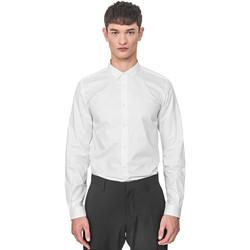 vaatteet Miehet Pitkähihainen paitapusero Antony Morato MMSL00596 FA400072 Valkoinen
