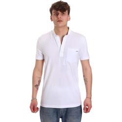 vaatteet Miehet Lyhythihainen poolopaita Antony Morato MMKS01741 FA120022 Valkoinen