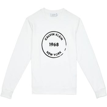 vaatteet Miehet Svetari Calvin Klein Jeans K10K104548 Valkoinen