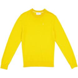 vaatteet Miehet Neulepusero Calvin Klein Jeans K10K104068 Keltainen