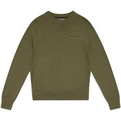 vaatteet Miehet Neulepusero Calvin Klein Jeans J30J313480 Vihreä