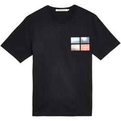 vaatteet Miehet Lyhythihainen t-paita Calvin Klein Jeans J30J312834 Musta