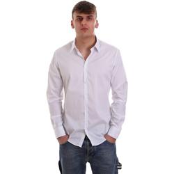 vaatteet Miehet Pitkähihainen paitapusero Gaudi 921FU45014 Valkoinen