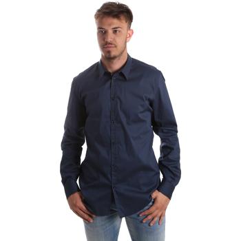 vaatteet Miehet Pitkähihainen paitapusero Gaudi 921FU45014 Sininen
