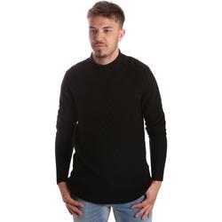 vaatteet Miehet Neulepusero Gaudi 921FU53025 Musta