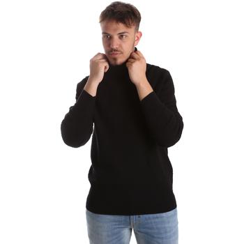 vaatteet Miehet Neulepusero Gaudi 921FU53048 Musta