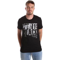vaatteet Miehet Lyhythihainen t-paita Gaudi 921FU64006 Musta