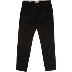 vaatteet Miehet Chino-housut / Porkkanahousut Gaudi 921BU25008 Musta