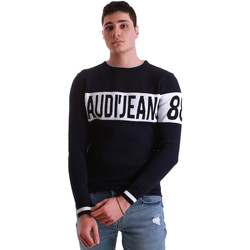 vaatteet Miehet Neulepusero Gaudi 921BU53067 Sininen