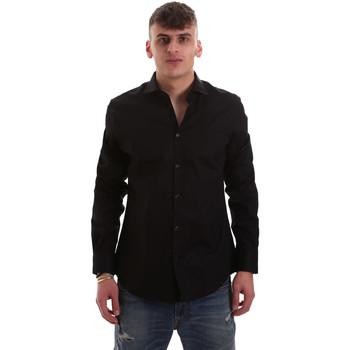 vaatteet Miehet Pitkähihainen paitapusero Gaudi 921BU45001 Musta