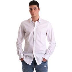 vaatteet Miehet Pitkähihainen paitapusero Gaudi 921BU45001 Valkoinen