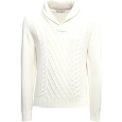vaatteet Miehet Neulepusero NeroGiardini A974530U Valkoinen