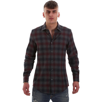 vaatteet Miehet Pitkähihainen paitapusero Antony Morato MMSL00548 FA410091 Harmaa