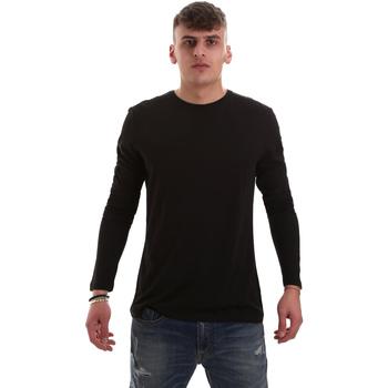 vaatteet Miehet T-paidat pitkillä hihoilla Antony Morato MMKL00264 FA100066 Musta