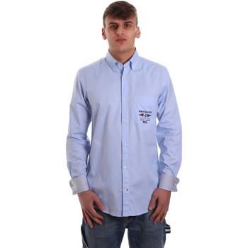 vaatteet Miehet Pitkähihainen paitapusero Navigare NV91061 BD Sininen