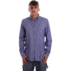 vaatteet Miehet Pitkähihainen paitapusero Navigare NV91068 BD Sininen