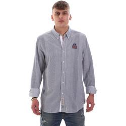 vaatteet Miehet Pitkähihainen paitapusero La Martina OMC021 PP472 Valkoinen