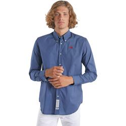vaatteet Miehet Pitkähihainen paitapusero La Martina OMC015 PP461 Sininen