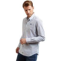 vaatteet Miehet Pitkähihainen paitapusero La Martina OMC016 PP462 Sininen