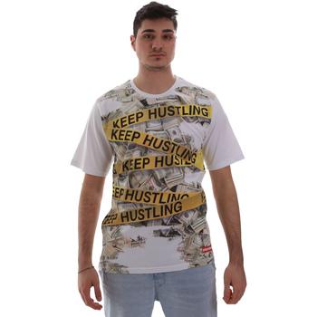 vaatteet Miehet Lyhythihainen t-paita Sprayground SP017S Valkoinen