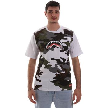 vaatteet Miehet Lyhythihainen t-paita Sprayground SP023S Valkoinen