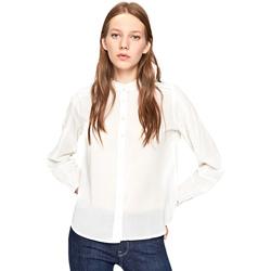 vaatteet Naiset Paitapusero / Kauluspaita Pepe jeans PL303540 Valkoinen