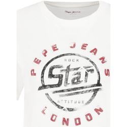 vaatteet Naiset Lyhythihainen t-paita Pepe jeans PL504273 Valkoinen