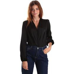 vaatteet Naiset Paitapusero / Kauluspaita Gaudi 921FD45011 Musta