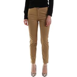 vaatteet Naiset Chino-housut / Porkkanahousut NeroGiardini A960700D Ruskea