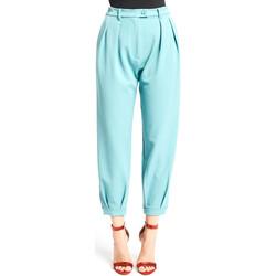 vaatteet Naiset Chino-housut / Porkkanahousut Denny Rose 921DD20008 Sininen