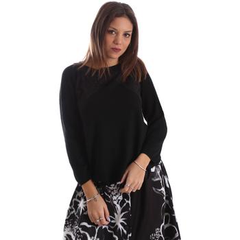vaatteet Naiset Neulepusero Fracomina FR19FP8117 Musta