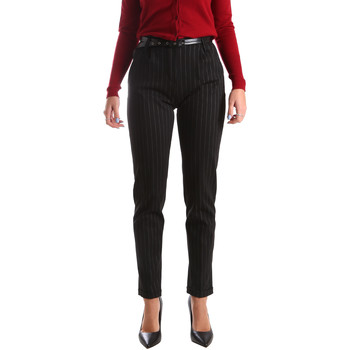 vaatteet Naiset Chino-housut / Porkkanahousut Fracomina FR19FP619 Musta