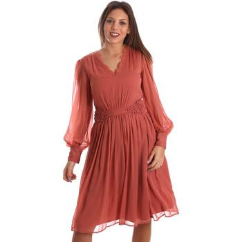 vaatteet Naiset Lyhyt mekko Fracomina FR19FMREMI Vaaleanpunainen