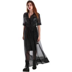 vaatteet Naiset Pitkä mekko Fracomina FR19FM567 Musta