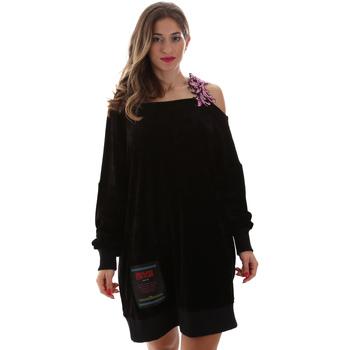 vaatteet Naiset Lyhyt mekko Versace B6HUB77011684899 Musta