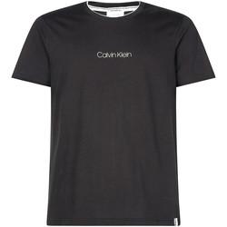 vaatteet Miehet Lyhythihainen t-paita Calvin Klein Jeans K10K104934 Musta