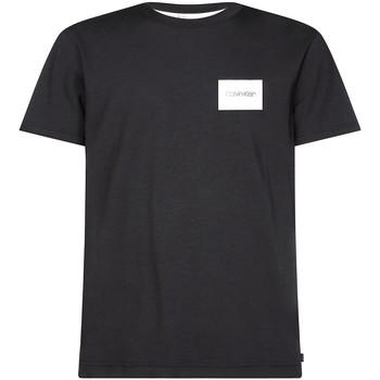 vaatteet Miehet Lyhythihainen t-paita Calvin Klein Jeans K10K104939 Musta