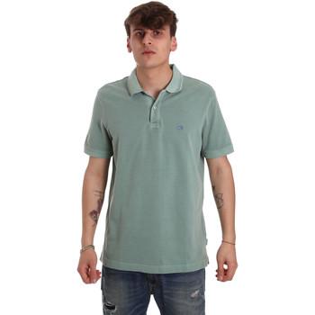 vaatteet Miehet Lyhythihainen poolopaita Calvin Klein Jeans K10K105193 Vihreä