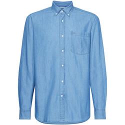 vaatteet Miehet Pitkähihainen paitapusero Calvin Klein Jeans K10K105288 Sininen