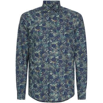 vaatteet Miehet Pitkähihainen paitapusero Calvin Klein Jeans K10K105411 Sininen
