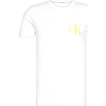 vaatteet Miehet Lyhythihainen t-paita Calvin Klein Jeans J30J315175 Valkoinen