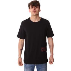 vaatteet Miehet Lyhythihainen t-paita Calvin Klein Jeans 00GMH9K287 Musta