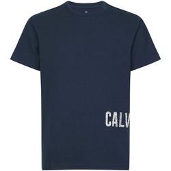 vaatteet Miehet Lyhythihainen t-paita Calvin Klein Jeans 00GMH9K287 Sininen