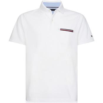 vaatteet Miehet Lyhythihainen poolopaita Tommy Hilfiger MW0MW13156 Valkoinen
